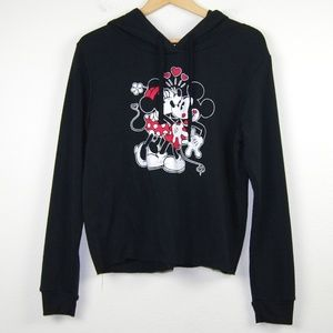 Disney Mickey And Minnie Mouse Hoodie Black XL